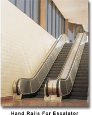 hand rails for escalator